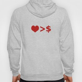 Love is more important  than Money Concept Illustration Hoody