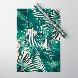 Tropical Jungle Leaves Siesta #2 #tropical #decor #art #society6 Wrapping Paper