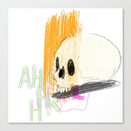 AHHHHHHR IT'S A SKULL (ACTUALLY IT'S JUST THE CRANIUM) Canvas Print