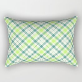 Spring Plaid Rectangular Pillow