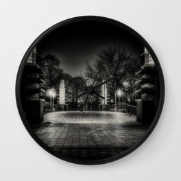Night Cyclist Wall Clock