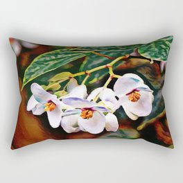 Brazilian Lady - Angel Wing Begonia Plant | Painting Rectangular Pillow