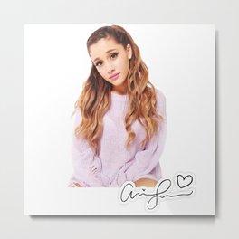 ArianaGrande Signature Metal Print