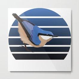 jz.birds Nuthatch Bird Animal Metal Print