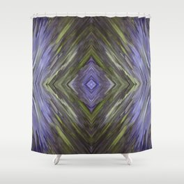 Claret and Moss Waves Shower Curtain