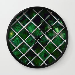 Emerald Pattern Wall Clock