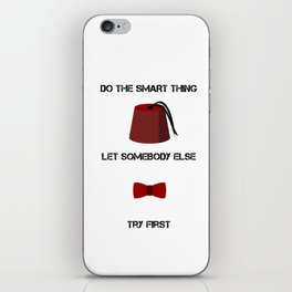 DO THE SMART THING iPhone Skin