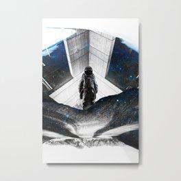 Astronaut Isolation Metal Print