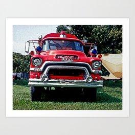 GMC Firetruck Art Print