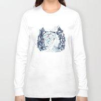 indigo Long Sleeve T-shirts featuring Indigo by the tiny totem