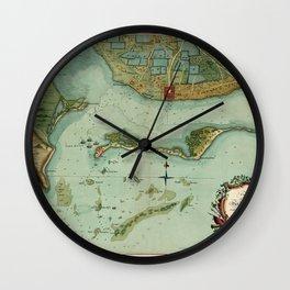 Map Of Jamaica 1756 Wall Clock