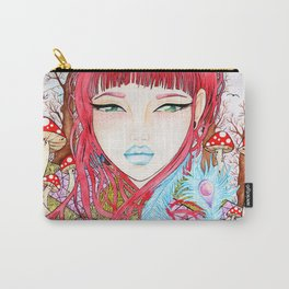 She is watercolor painting illustration by Sophi Art Carry-All Pouch