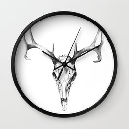 Deer Skull in Pencil Wall Clock