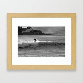 Cold Water Surf Framed Art Print
