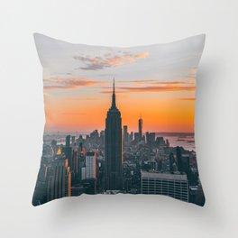 Top Of The Rock at Sunset Throw Pillow