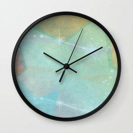 Retro Sparkle Stars Wall Clock