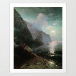A.S. Pushkin in the Crimea at the Gurzuf rocks. 1880 Art Print