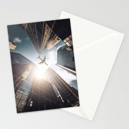 tall skyscraper in manhattan Stationery Cards