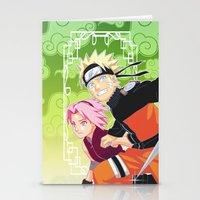 naruto Stationery Cards featuring Naruto & Sakura by Neo Crystal Tokyo
