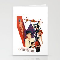 neon genesis evangelion Stationery Cards featuring Evangelion by Collectif PinUp!