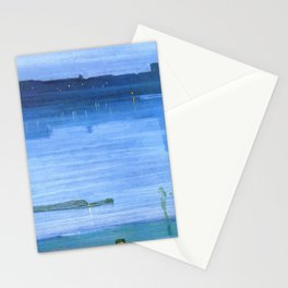 Nocturne Blue And Silver Chelsea By James Mcneill Whistler | Reproduction Stationery Cards