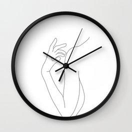 Line drawing figure illustration - Elsie Wall Clock