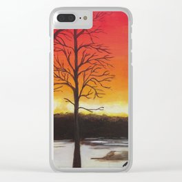 Home of Beautiful Sunsets Clear iPhone Case