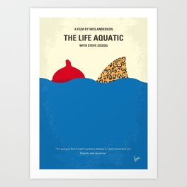 No774 My The Life Aquatic with Steve Zissou minimal movie poster Art Print