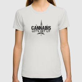 Cannabis lets get lit T-shirt