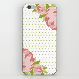 Peonies & Polka Dots iPhone Skin