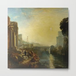 """J.M.W. Turner """"Dido building Carthage or The Rise of the Carthaginian Empire"""" Metal Print"""