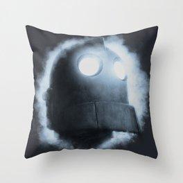 The Iron Giant Rises Throw Pillow