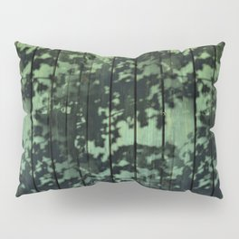 Leaf Shadows on Deck - green2turquoise Pillow Sham