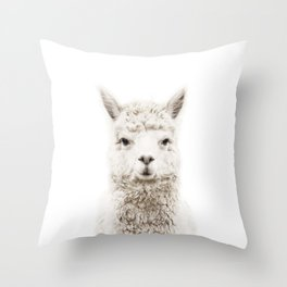Alpaca Front & Center Throw Pillow