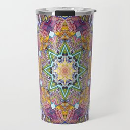 Symmetrical Colors Abstract Travel Mug