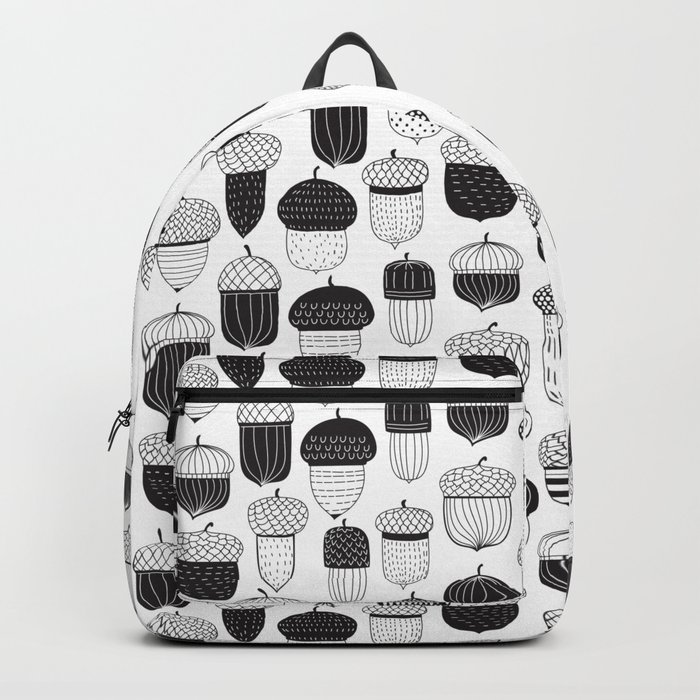 Doodle acorns autumn pattern Backpack