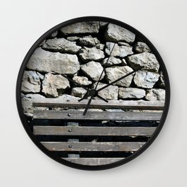 Against the wall Wall Clock