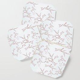 SAKURA LOVE - GRUNGE WHITE Coaster
