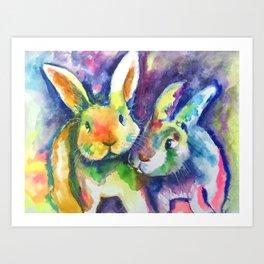 Bunny Pals Art Print
