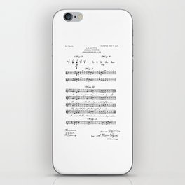 patent art Beswick Musical notation 1903 iPhone Skin