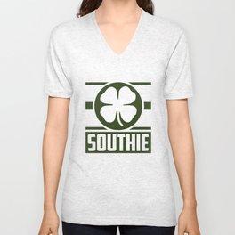 Southie Shamrok Boston City Clover St Patricks Day Unisex V-Neck