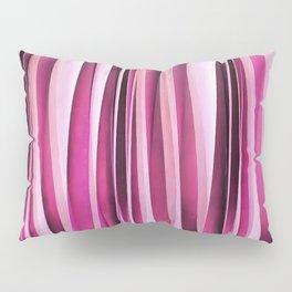 Rose Wine and Burgundy Stripy Lines Pattern Pillow Sham