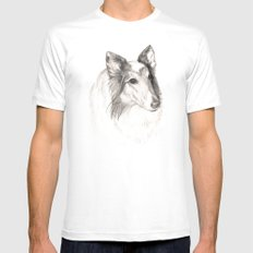 Remembering Maggie :: A Tribute to a Collie Mens Fitted Tee MEDIUM White