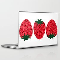 strawberry Laptop & iPad Skins featuring Strawberry by Dpat Designs