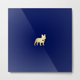 French Bulldog Gold Metal Print