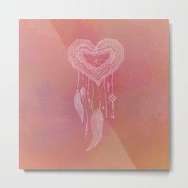 Heart Dreamcatcher  Metal Print