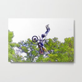Hand Stand Pro - Freestyle Motocross Stunt Metal Print