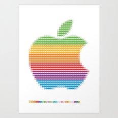 Pantone as pixel Apple logo Art Print