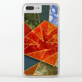 Abstract #330 Clear iPhone Case