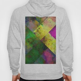 Dark Diamonds - Textured, patterned painting Hoody